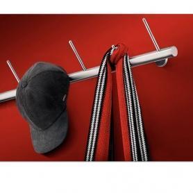 Штанга с крючками для прихожей. материал нержавеющая сталь. .